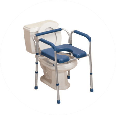 Folding Commode with Padded Seat