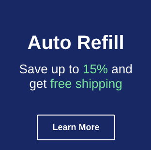 Save up to 15 percent and get free shipping on every auto refill order