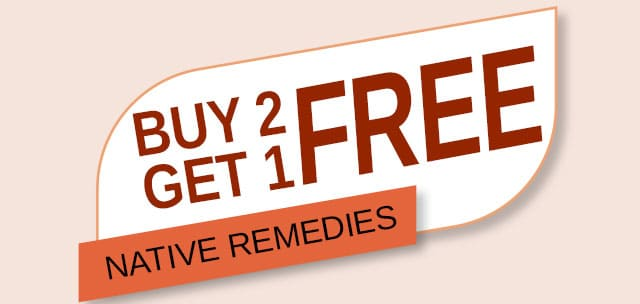 Buy 2 Get 1 Free on Native Remedies