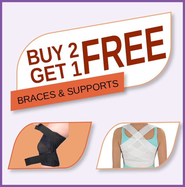 Buy 2 Get 1 Free on Braces & Supports