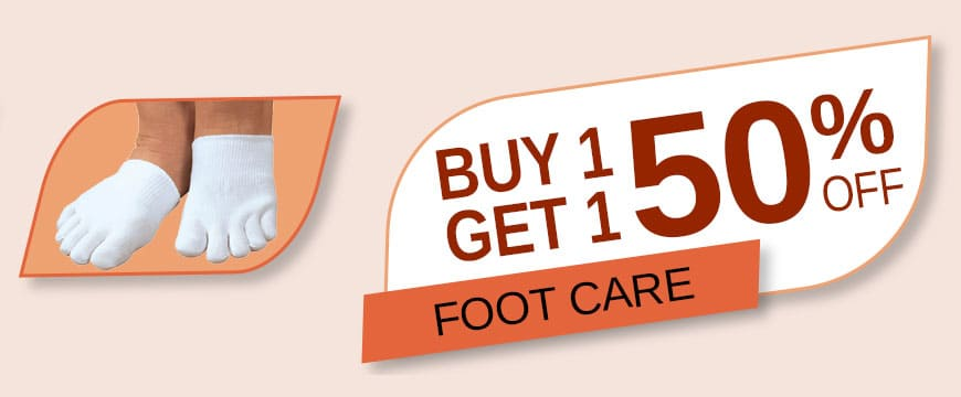 Buy 1 Get 1 50% Off Foot Care