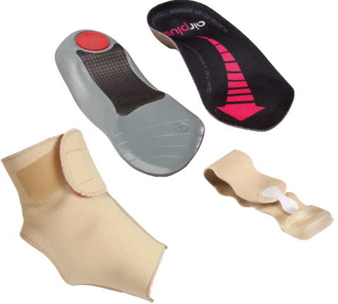 Ankle and foot braces and supports