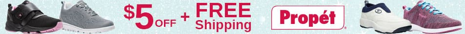 $5 Off & Free Shipping on Propet Shoes