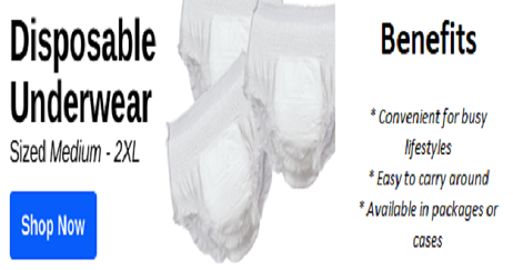 Shop Disposable Incontinence Products