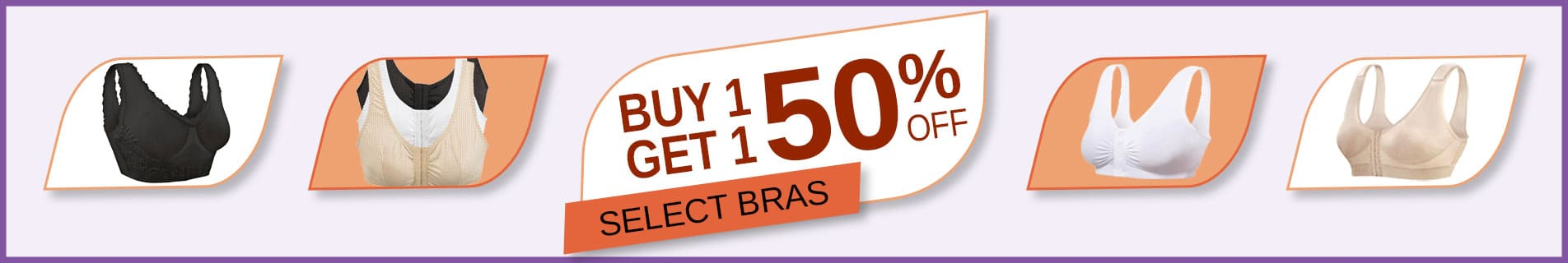 Buy 1 Get 1 50% Off Bras
