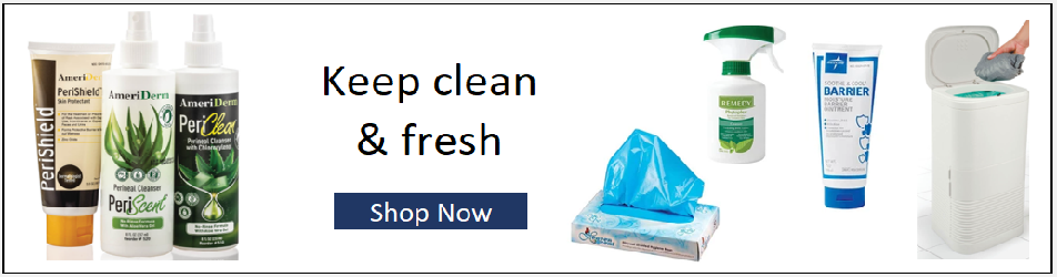 Shop Incontinence Skincare, Cleaning & Aids