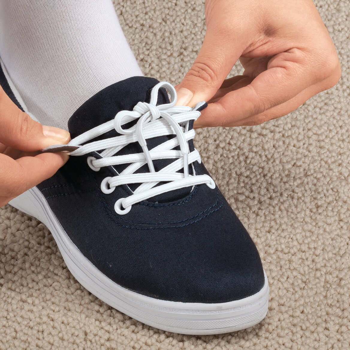 Silver Steps™ Elastic Shoe Laces 3 Pair-341204