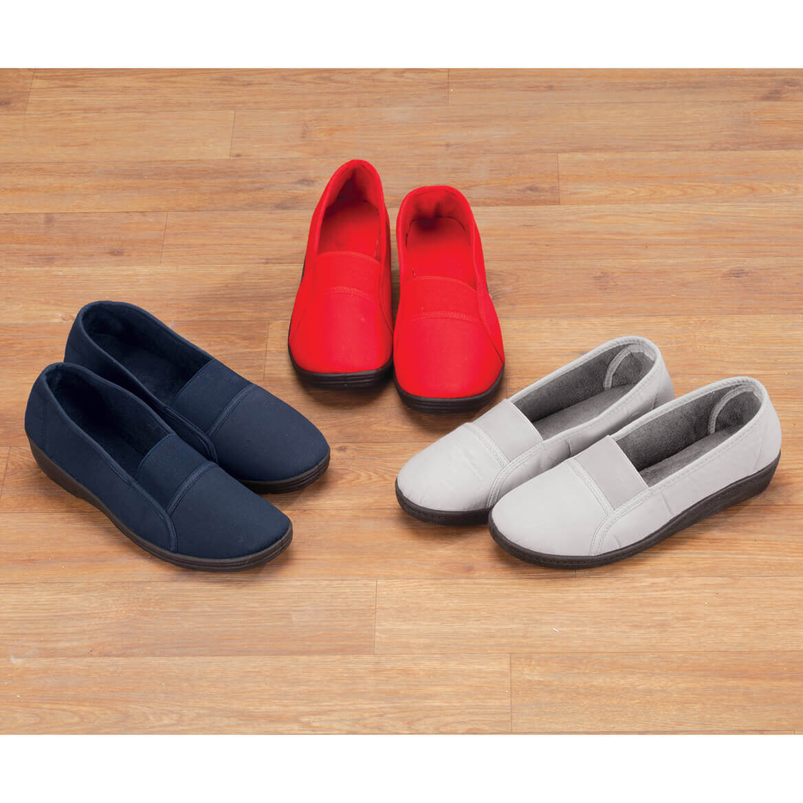 Comfort Fit Elastic Slip Ons-349189