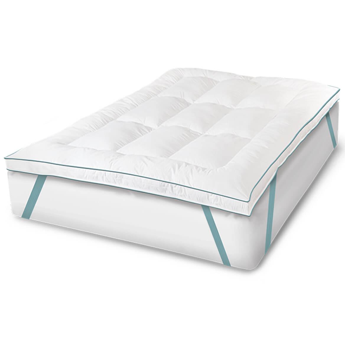 "Soft-Tex™ 2.5"" Memory Foam and Fiber Bed Mattress Topper-350082"