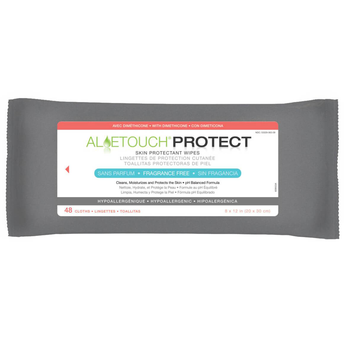 Aloetouch Protect Skin Protectant Wipes, Pack of 48-351478
