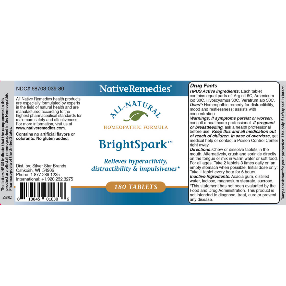 NativeRemedies® BrightSpark™ Tablets-351827