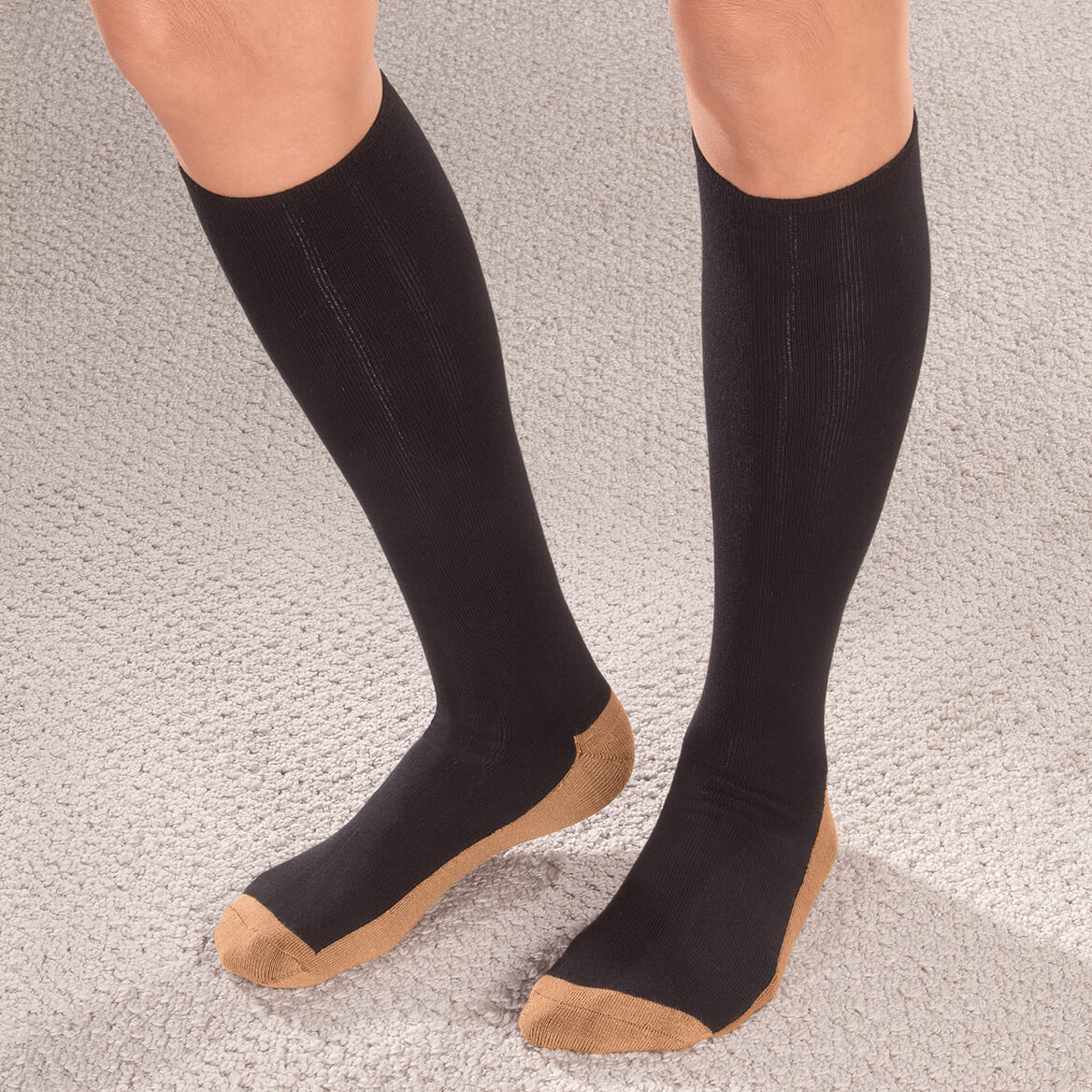 Copper Compression Socks by Silver Steps™, 1 Pair-352491