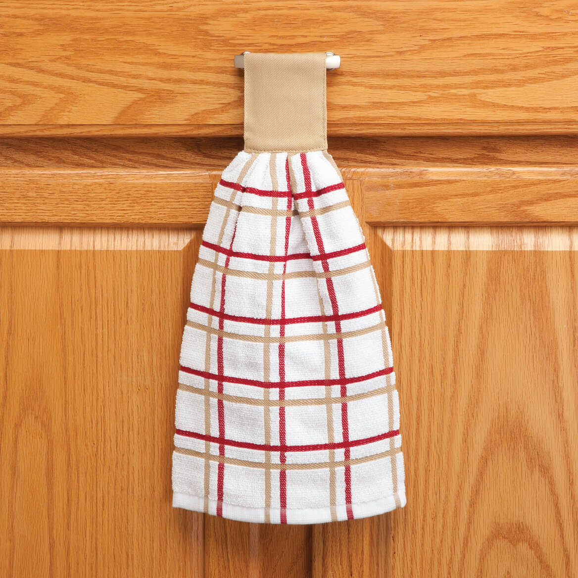 Cotton Hanging Towel - Checked-354570