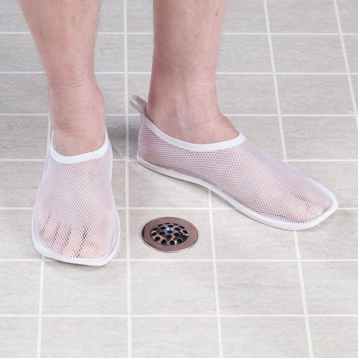 Mesh Shower Slippers-357613