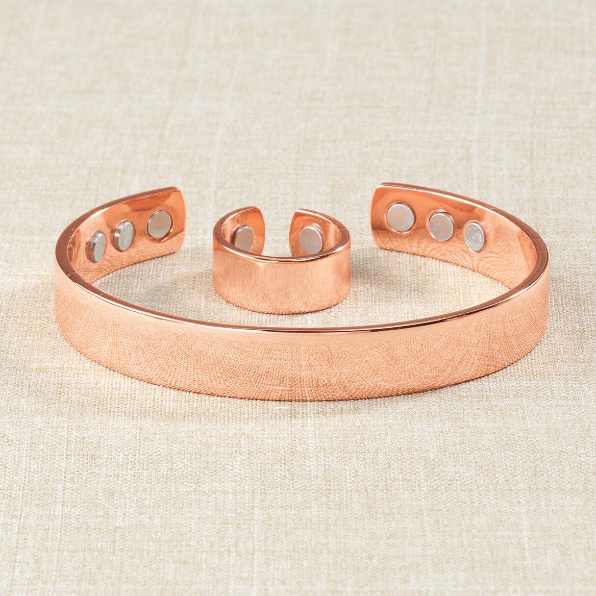Copper Magnetic Ring and Bracelet Set-361571