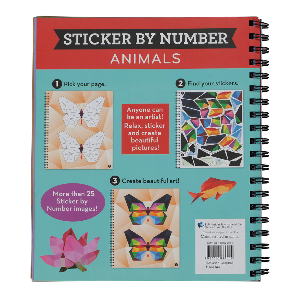 "Brain Games™ ""Animals"" Sticker By Number Book-361584"