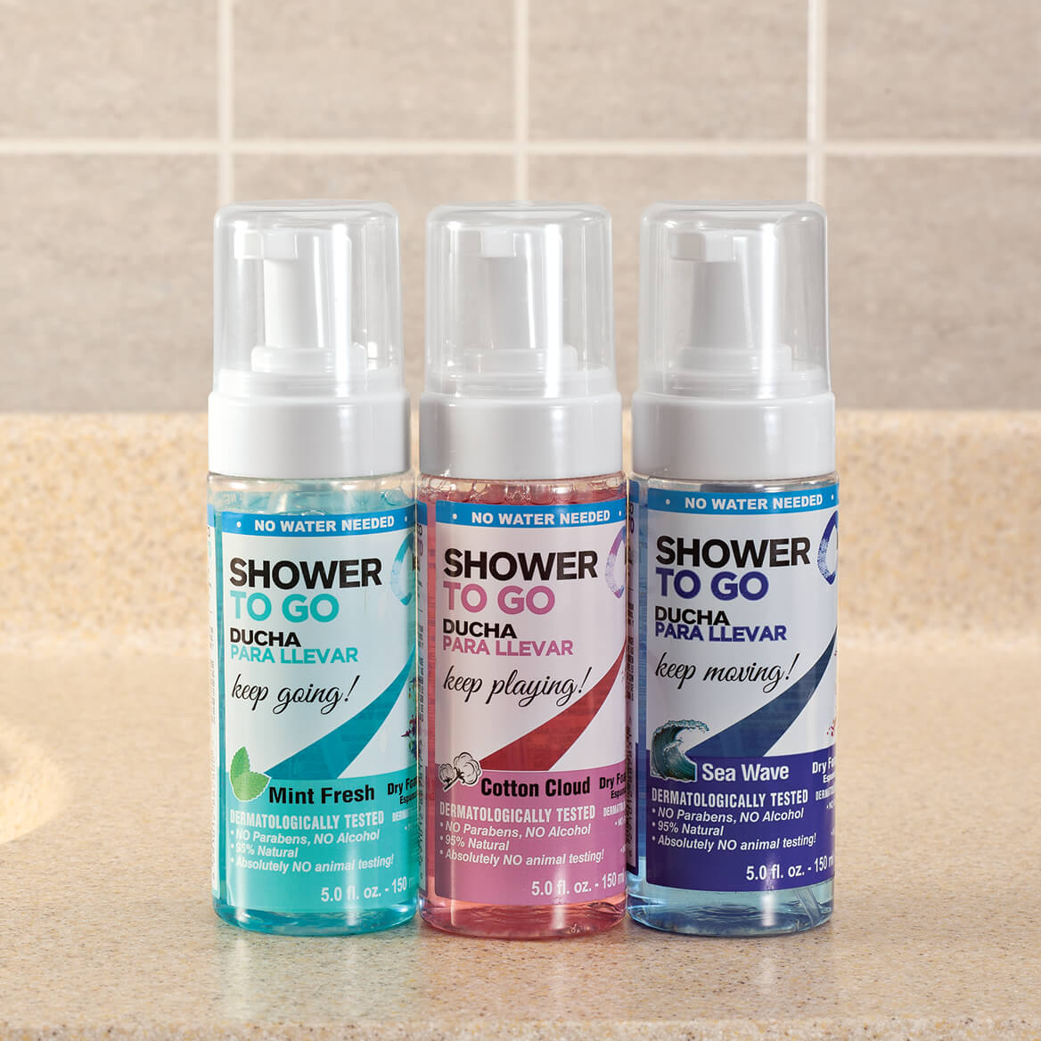 Shower-To-Go Foaming No Rinse Body Wash, 5 oz.-361647