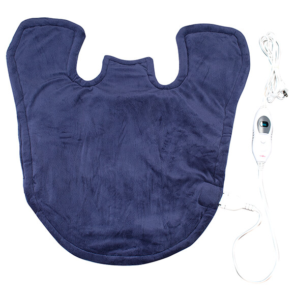 Plush Heating Pad Wrap for Shoulders, Neck, & Back-361753