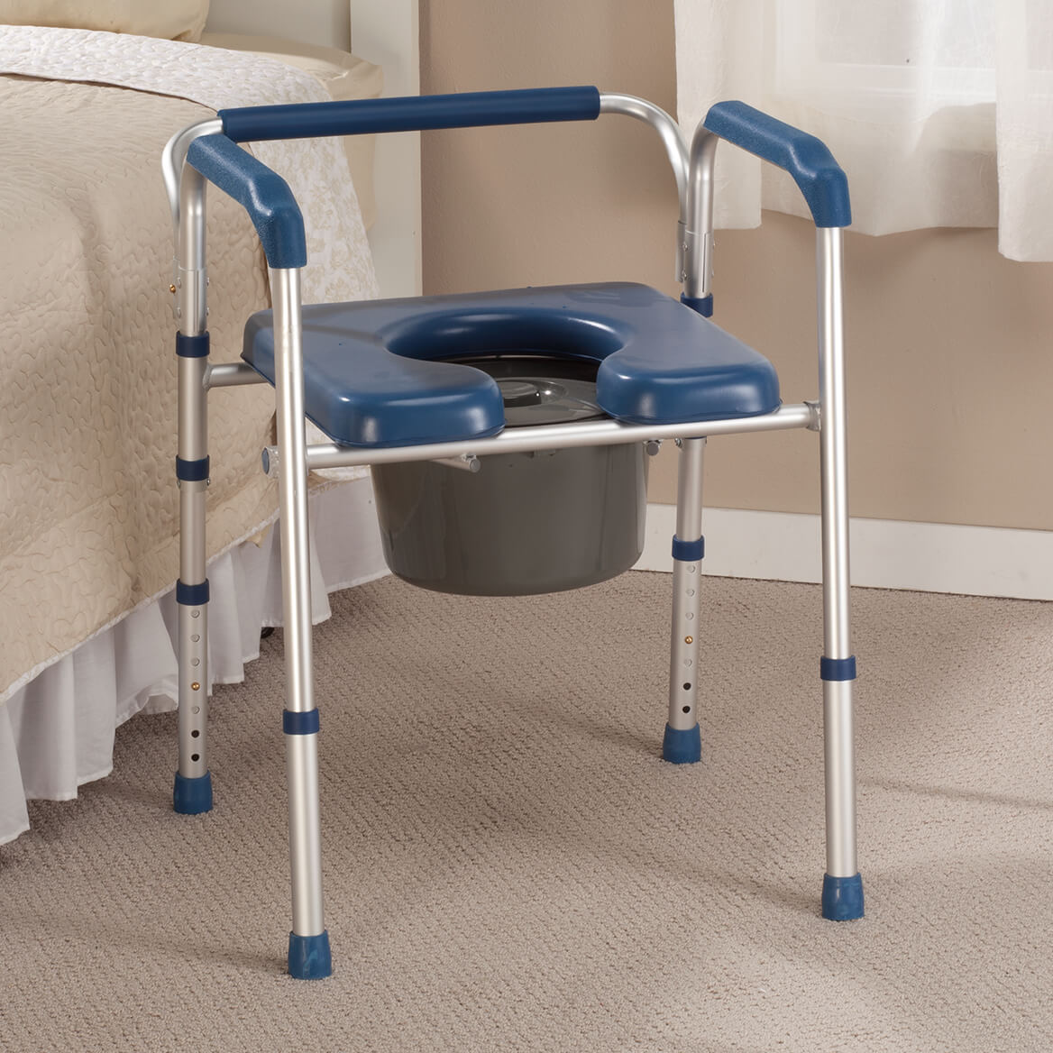 Folding Commode with Padded Seat-361893