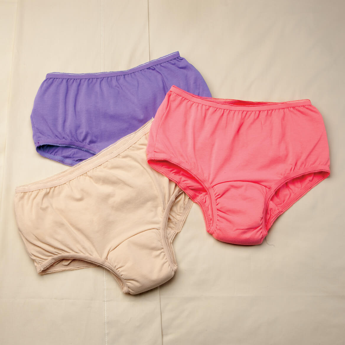 Women's 20 oz. Incontinence Briefs 3 Pack, Assorted Colors-362413
