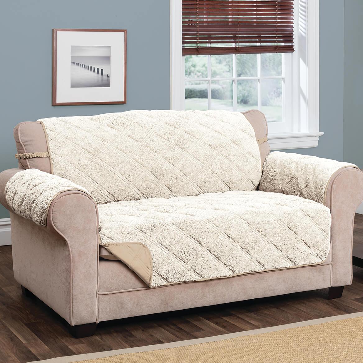 Hudson Waterproof Sherpa XL Sofa Protector by OakRidge-365405
