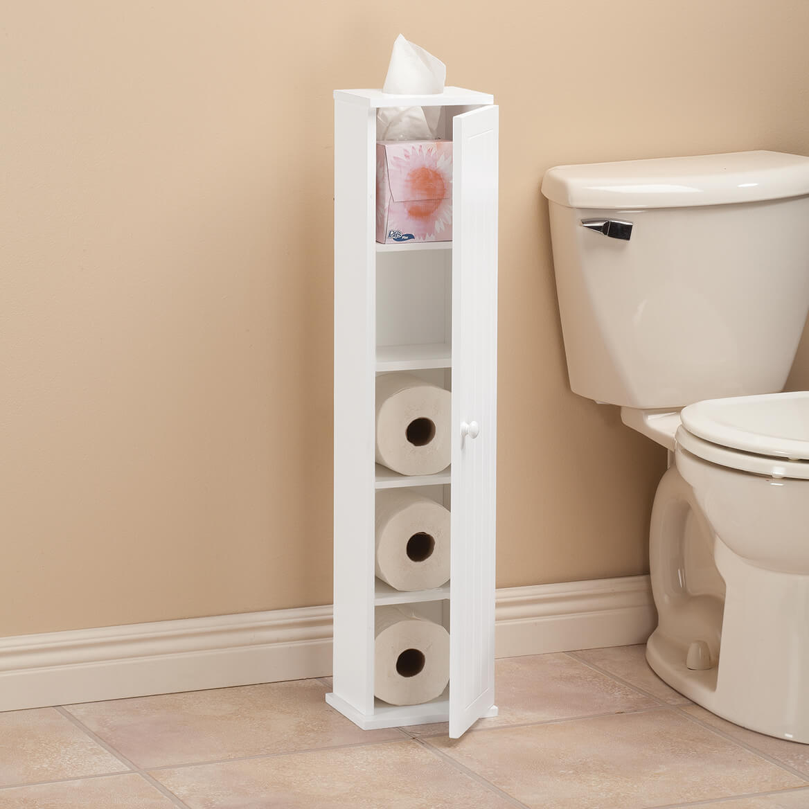 Ambrose Collection Mega Roll Toilet Tissue Tower by OakRidge-366666