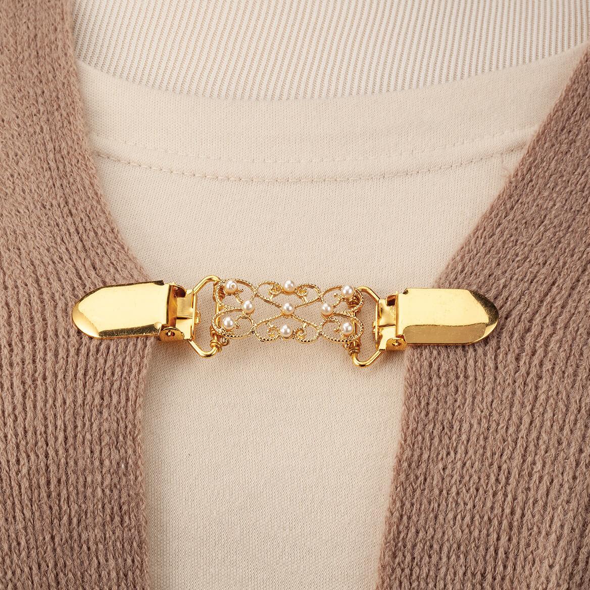 Decorative Goldtone Sweater Clasp-367731