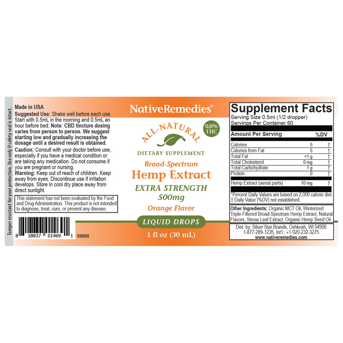 NativeRemedies® Extra-Strength Hemp Extract 500 mg-367950