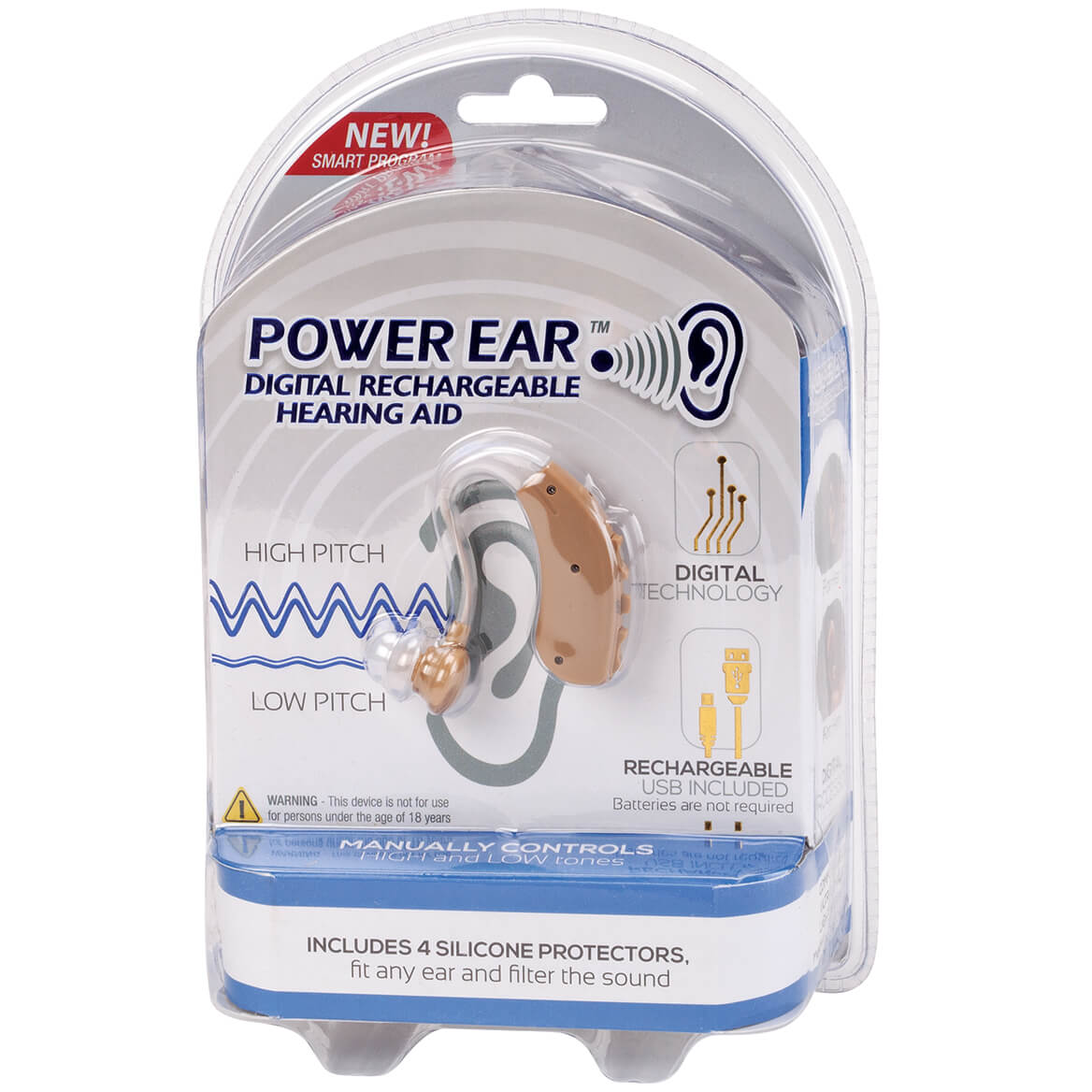 Power Ear™ Digital Rechargeable Hearing Aid             RTV-369214