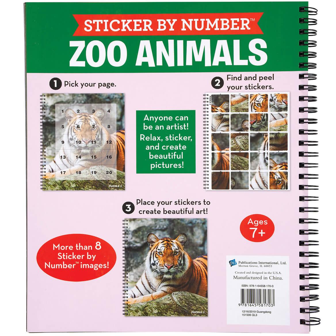 Brain Games® Sticker by Number Zoo Animals Book-370344