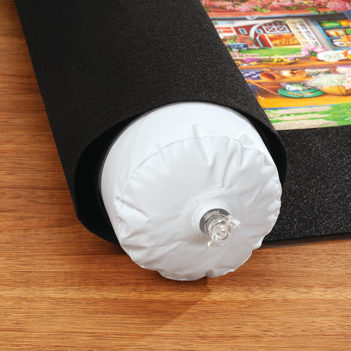 Puzzle Roll-Up Mat with Inflatable Tube-371357