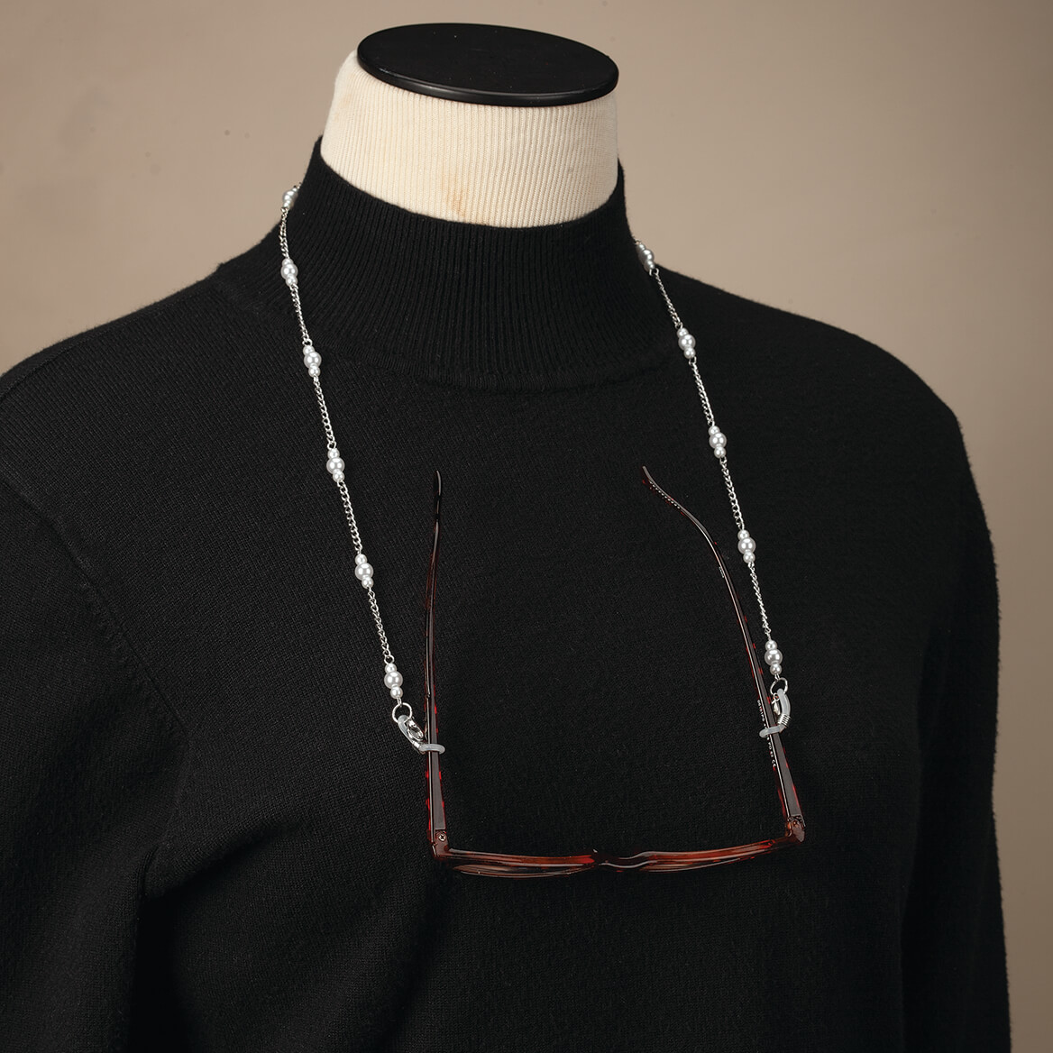 Eyeglass & Mask Chain with Pearl Accents-371966