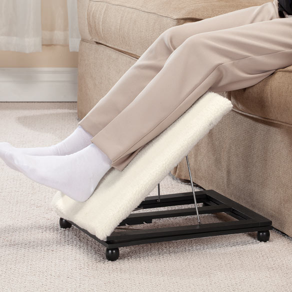Adjustable Footrest with Removable Sherpa Cover - View 2