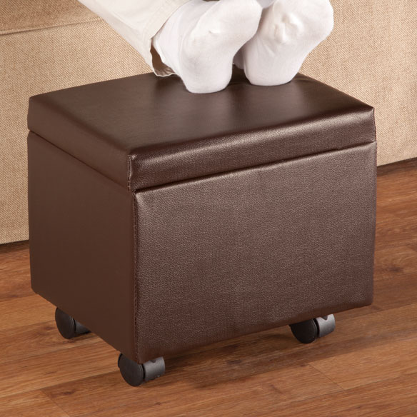 Flip Top Storage Ottoman - View 2