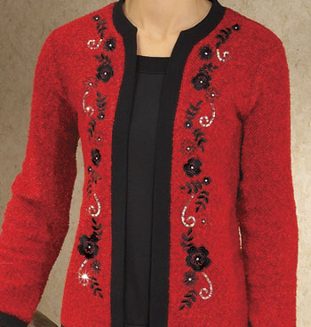 Boucle Cardigan Two-Fer