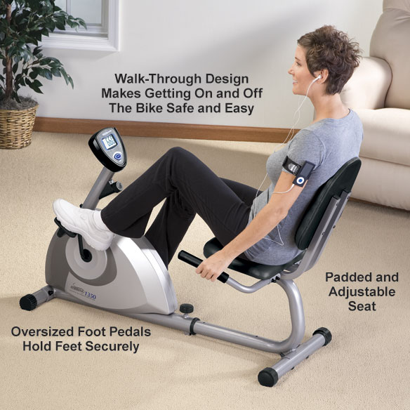 Stamina® Magnetic Recumbent 1350 Bike - View 2