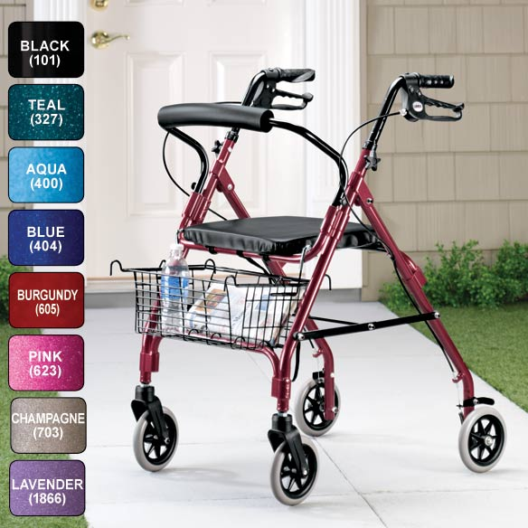 Lumex Walkabout Lite 4 Wheel Rollator - View 1