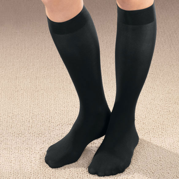Women's Microfiber Knee High Support Socks - View 1