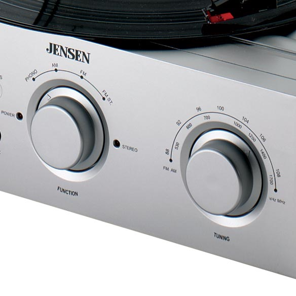 Jensen® Turntable With Radio - View 1