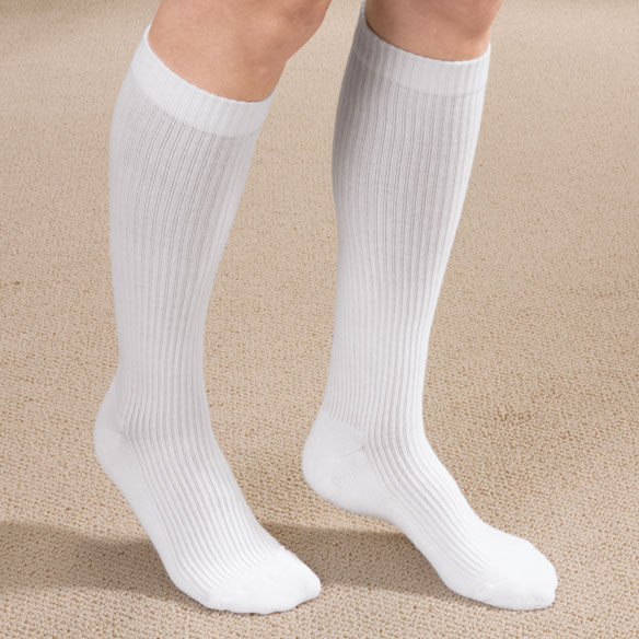 Cotton Compression Socks with Grippers - View 1