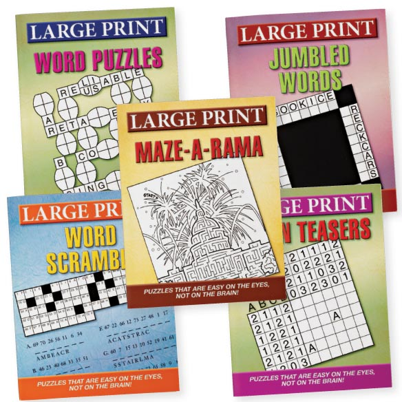 Large Print Puzzles 10 Pack - View 1