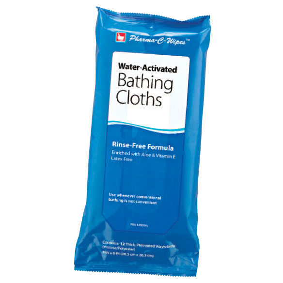 Water Activated No-rinse Bathing Cloths - View 1