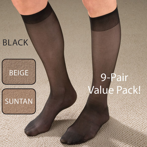 Women's Support Knee Highs, 9 pack - View 2