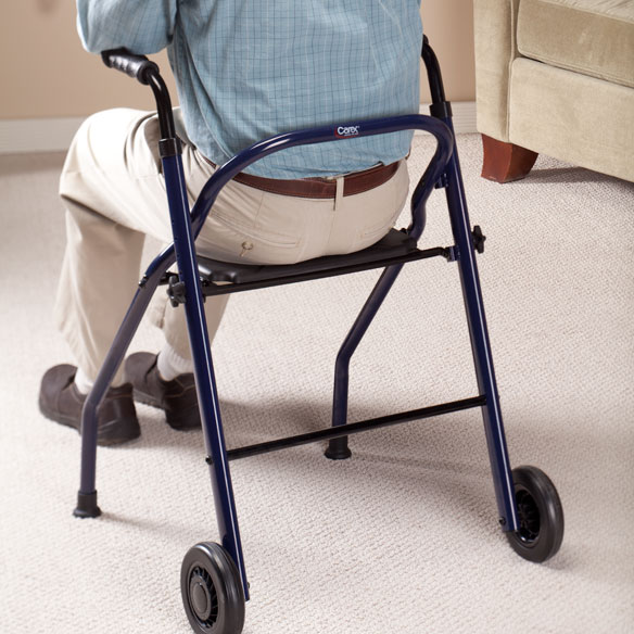2 Wheel Walker With Seat - View 3