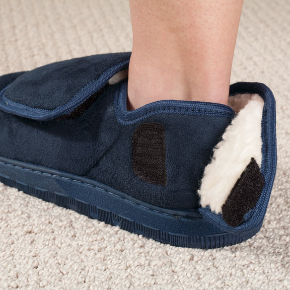 Adjustable Fleece Slippers - View 1