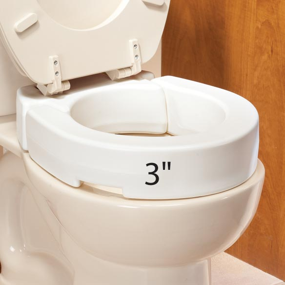 Hinged Raised Toilet Seat - View 2