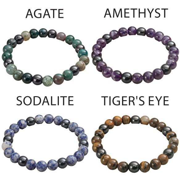 Lucky Magnetic Hematite Bracelets - View 1