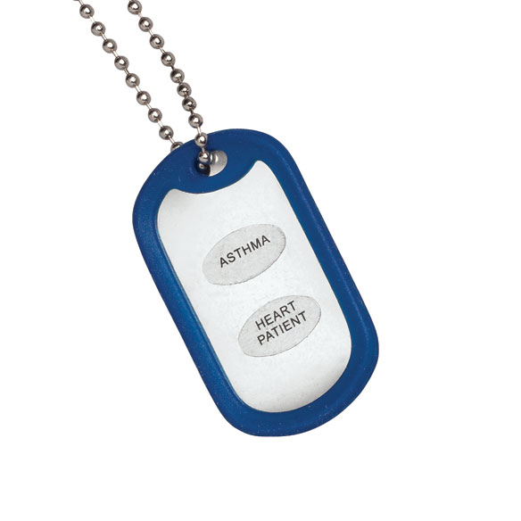 Medical Alert ID Tag Necklace Set of 2 - View 1