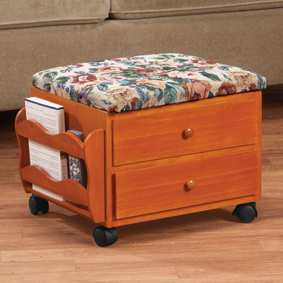 Multi Storage Rolling Ottoman - View 1