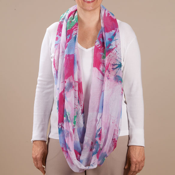 Watercolor Infinity Scarf - View 3